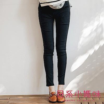 日系小媽咪孕婦裝-孕婦褲~仿牛仔彈力修身窄管褲 XL-XXL