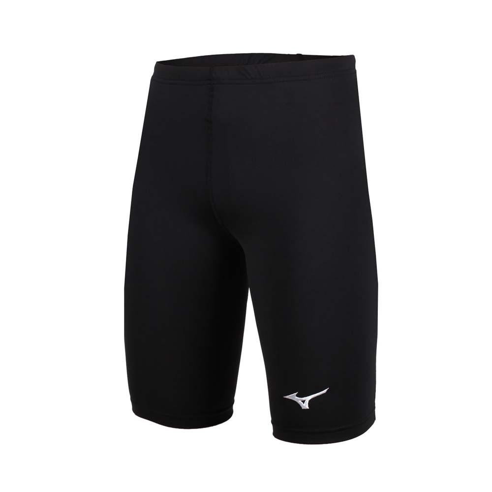 MIZUNO 男女緊身五分褲 短褲-慢跑 路跑 健身 瑜珈 有氧 黑白