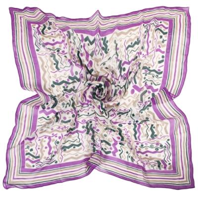 Christian Dior 繽紛彩帶嘉年華大絲巾-紫色