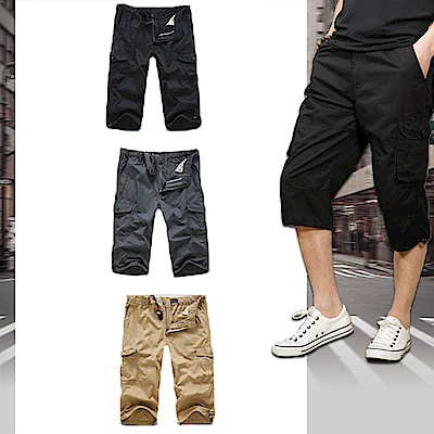 【Incare】戶外厚款含皮帶工作短褲(3色可選/加贈皮帶)