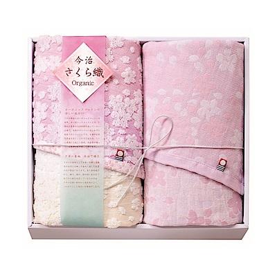 日本Prairiedog 今治有機綿櫻花經典禮盒組(毛巾x2)