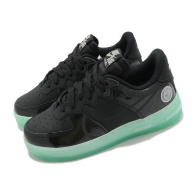 Nike 休閒鞋 Air Force 1 React 男女鞋 經典款 舒適 避震 球鞋 情侶穿搭 質感 黑 綠 CV2218001
