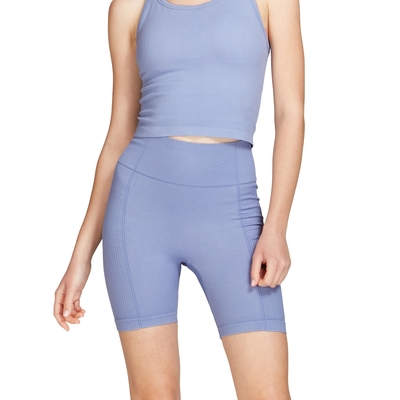 6IXTY8IGHT圓形針織單車短褲8S1英式莊園藍 HW08543