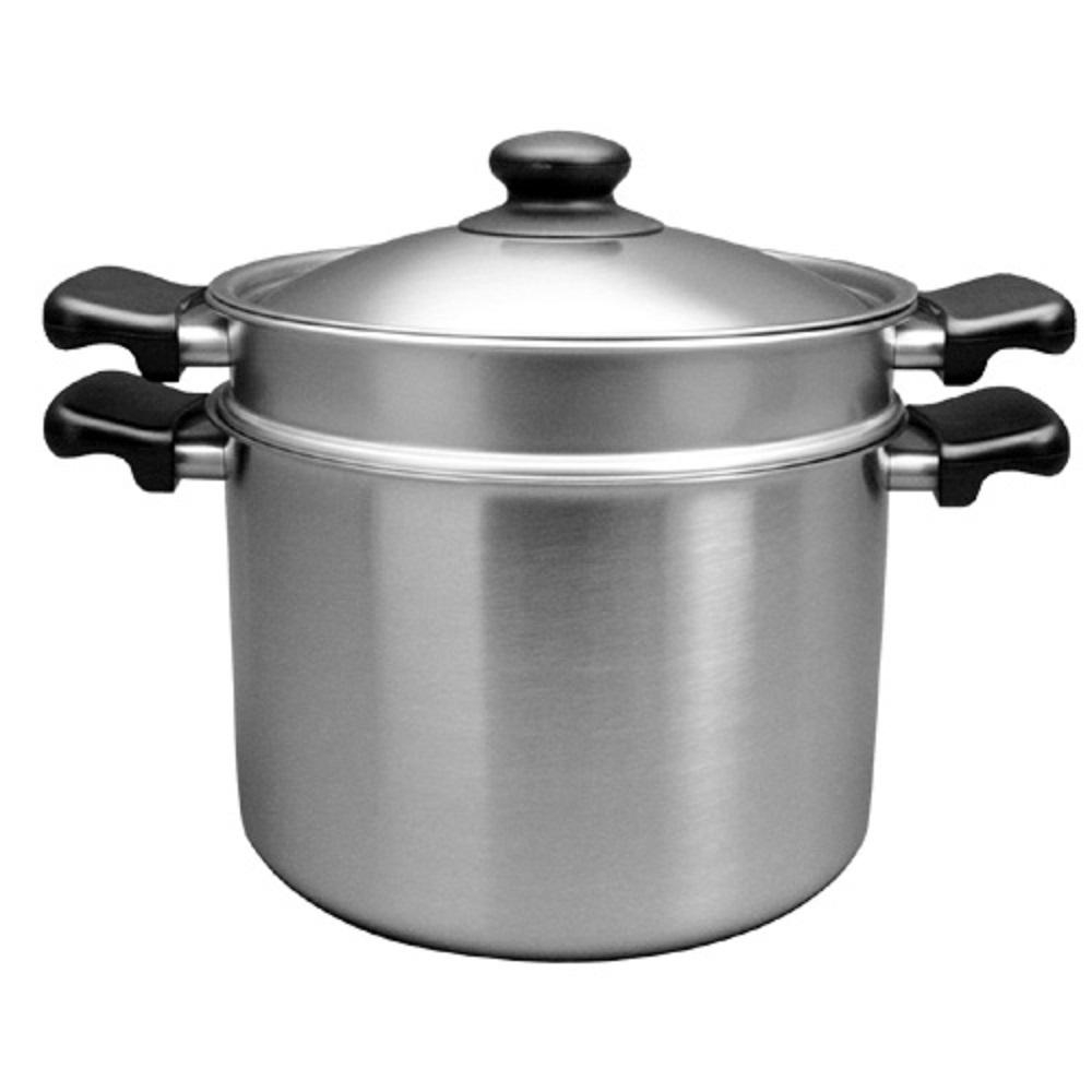 柳宗理 不鏽鋼 雙耳 義大利麵鍋22cm / 附蓋/附濾網-大師級商品