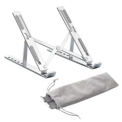 FJ 鋁合金可摺疊筆電散熱支架N3(適用15.6吋以下筆電)