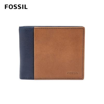 FOSSIL 母親節優惠 WARD 真皮RFID男夾-海軍藍 ML3918400