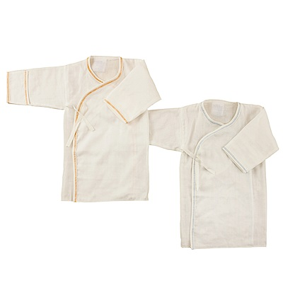 愛的世界 純棉素色加長護手紗布內衣隨機2入x3包-台灣製-