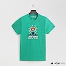 Hang Ten - 男裝 - 有機棉-加州風圖印圓領T恤 - 綠