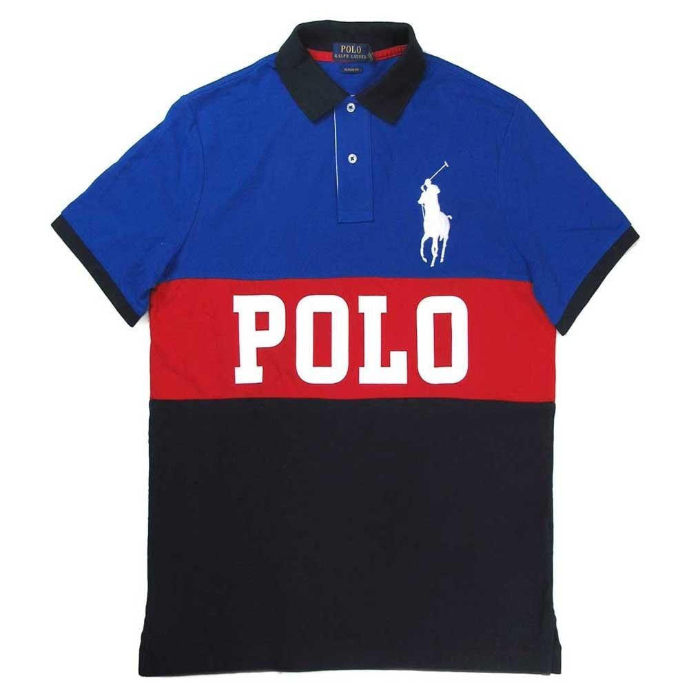 Polo Ralph Lauren 大馬Logo藍黑色塊網眼短袖Polo衫(Classic Fit)