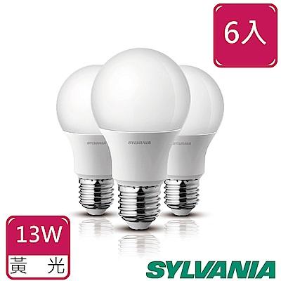 喜萬年SYLVANIA 13W LED高光效節能球泡 6入