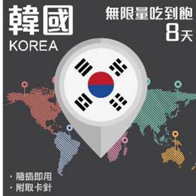 【PEKO】加送卡套 韓國上網卡 8日高速4G上網 無限量吃到飽 優良品質