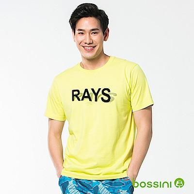 bossini男裝-印花短袖T恤54亮綠