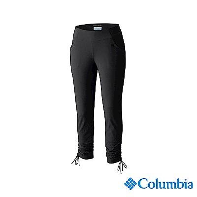 Columbia 哥倫比亞 女款-UPF50 防潑七分褲-黑色 UAL15960
