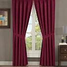 【伊美居】布拉格單層半腰遮光窗簾 - 單片130x165cm - 共2片 - 棗紅色