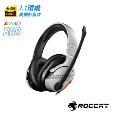 ROCCAT KHAN AIMO-7.1 悍音-艾摩版高解析RGB電競耳機-白