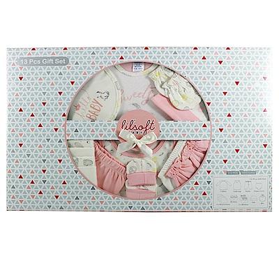 美國Elegant kids彌月禮盒-粉色小鳥13件式禮盒