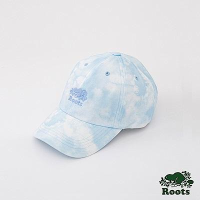 Roots配件- 海狸雲彩棒球帽-藍