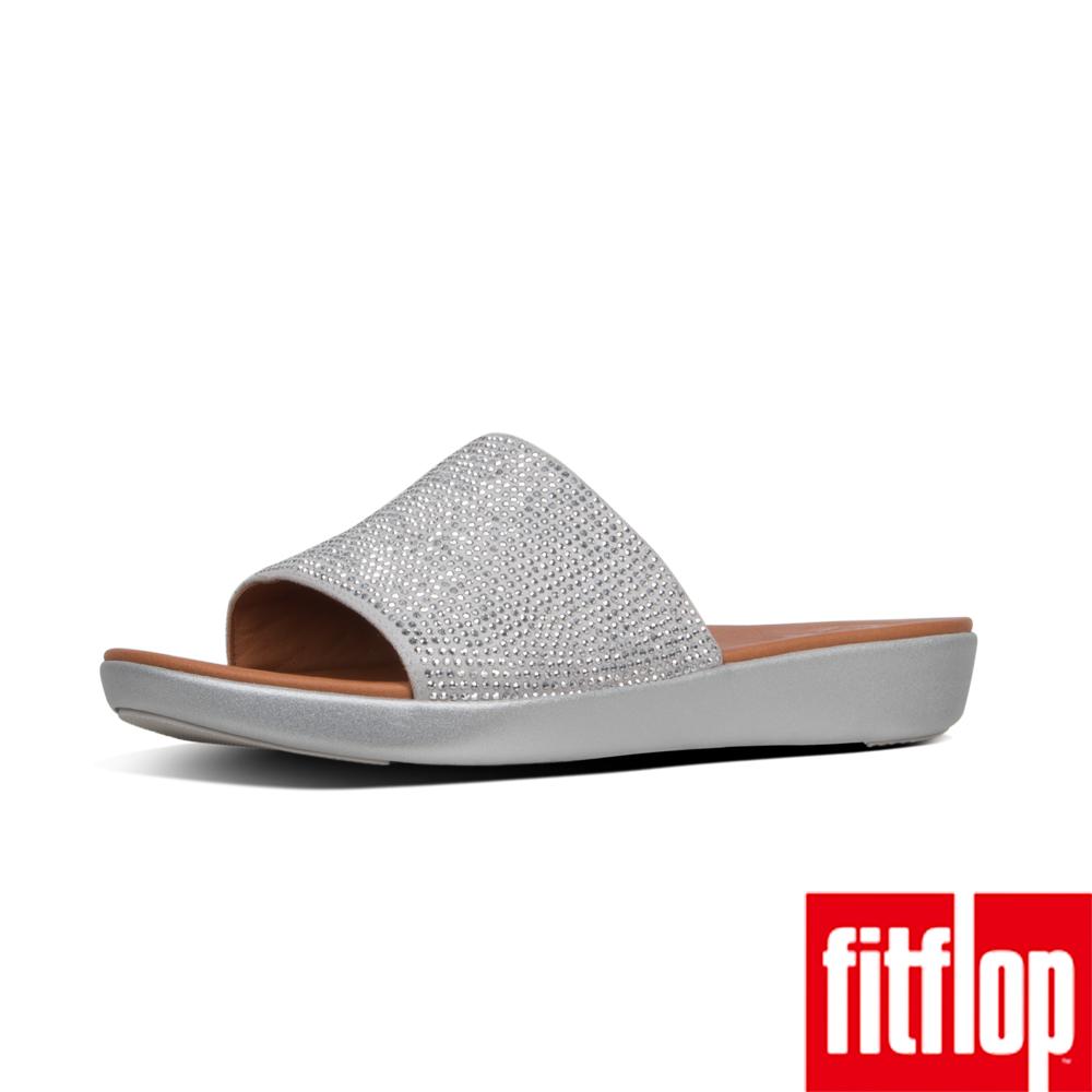 FitFlop SOLA厚底拖鞋銀色