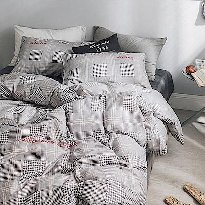 BUNNY LIFE 威爾斯-雙人-簡約精梳純棉床包被套組