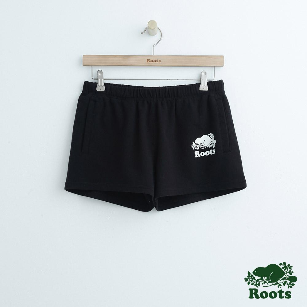 女裝Roots 經典休閒短褲-黑