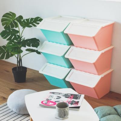完美主義 可堆疊收納箱/玩具箱(6入組)(4色)