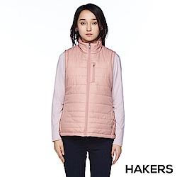 【HAKERS 哈克士】女款 保暖背心(豆粉)