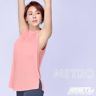 STL YOGA METRO SL 韓國瑜珈 地鐵Nashi 運動機能訓練無袖背心上衣 浪漫珊瑚