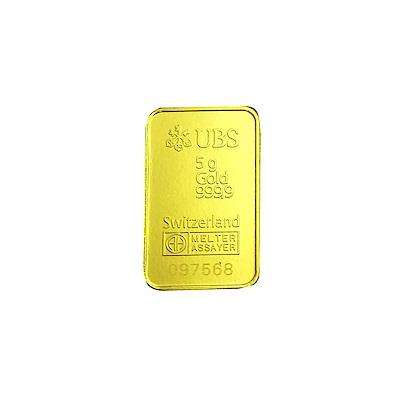 『限時89折』UBS kinebar 黃金條塊(5公克)