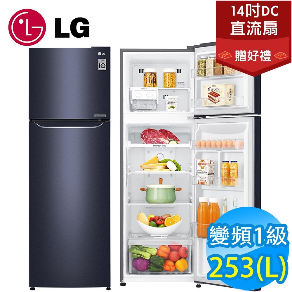 LG 253公升變頻冰箱(典雅藍)GN-L307C