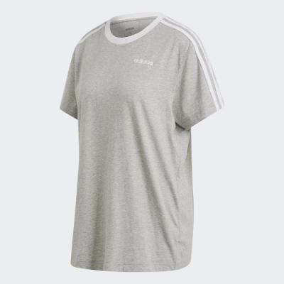 ADIDAS 休閒 運動 短袖 上衣 女款 灰 FN5779 3-STRIPES ESSENTIALS