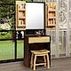 Homelike 奇諾2尺化妝桌椅組-61x44x168cm product thumbnail 1