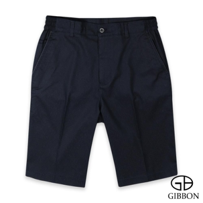 GIBBON 舒適彈力天絲質感鬆緊短褲‧紳仕藍
