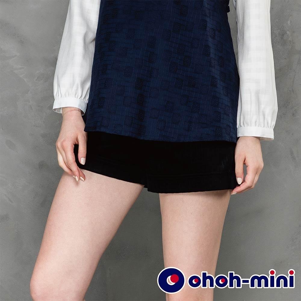 ohoh-mini 孕婦褲 條紋絨面百搭孕婦短褲