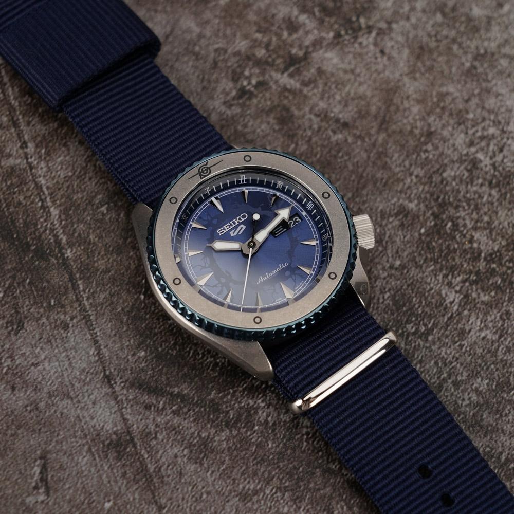 SEIKO 精工 5 Sports 機械錶 (藍面) 錶帶自選顏色