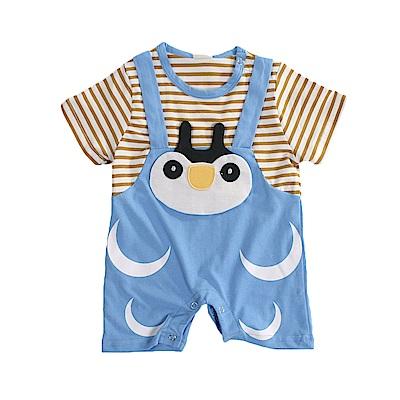 企鵝短袖連身衣 k51111魔法Baby