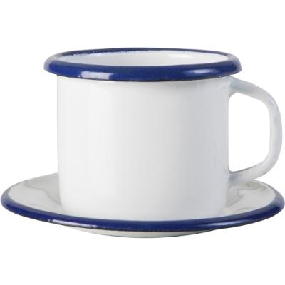 《IBILI》琺瑯濃縮咖啡杯碟組(藍80ml)