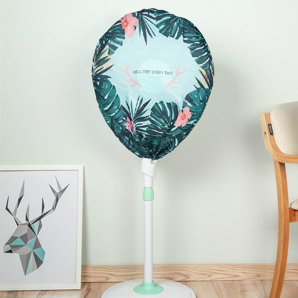 半島良品 簡約時尚全罩式電風扇防塵罩- 北歐綠葉