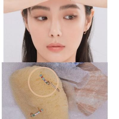 梨花HaNA 韓國925銀愛的迫降第10集尹世理彩鑽直排耳環