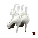 SM-甜美多變微尖頭蕾絲高跟鞋-白色 (兩色)