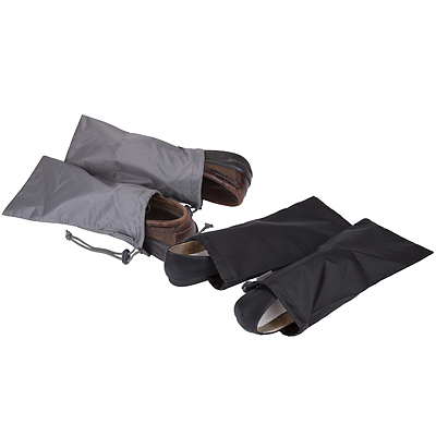 《TRAVELON》鞋子收納袋2對(黑)
