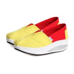 韓國KW美鞋館 巴黎NEW款厚底撞色健走鞋-黃
