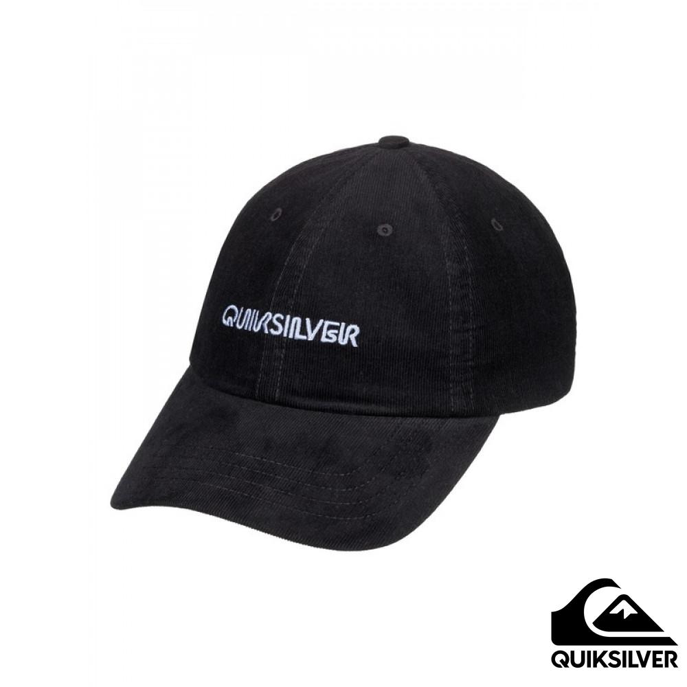 【Quiksilver】LABELED 水洗復古棒球帽 黑