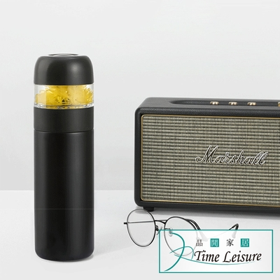 Time Leisure 316不鏽鋼茶水分離保溫瓶/花茶杯320ml