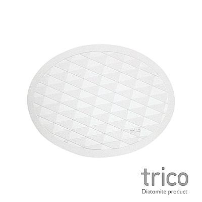 Trico 橢圓菱格瞬吸珪藻土地墊-灰