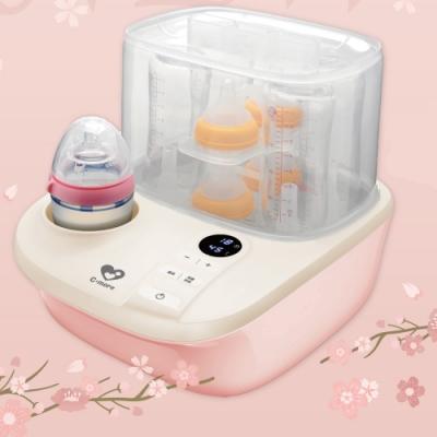【新貝樂C-more】K2高效能溫奶消毒烘乾鍋(溫奶器+消毒鍋 2合一) 櫻花粉