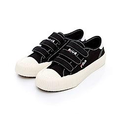 FILA 中性帆布餅乾鞋(防臭鞋墊)-黑 4-C319T-001