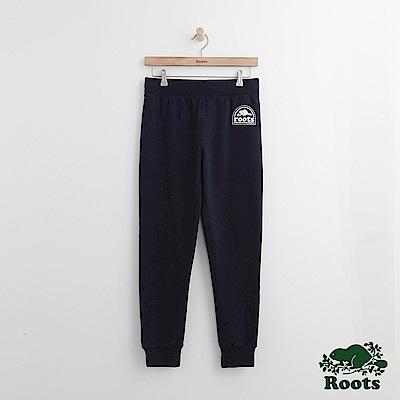 Roots -女裝- ROOTS 拱形LOGO棉褲 - 藍