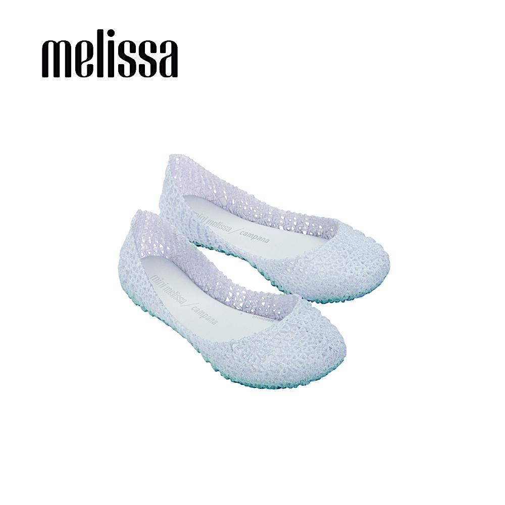 Mini Melissa CAMPANA PAPEL 經典鳥巢鞋 兒童款 -銀