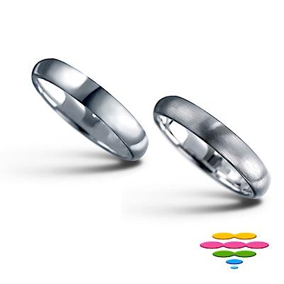 彩糖鑽工坊 K金戒 (2選1) (3mm) 幸褔指輪系列