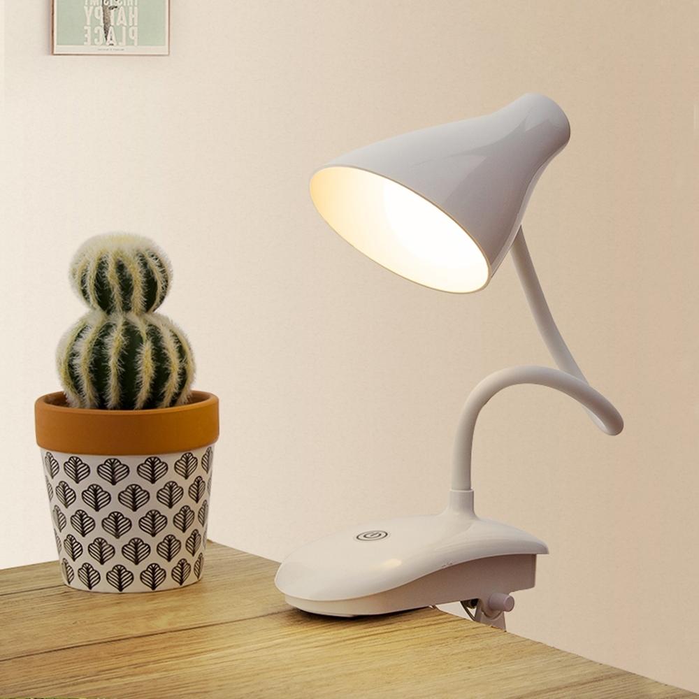 夾式/立式LED護眼檯燈 USB充電檯燈/夜燈 無極調光